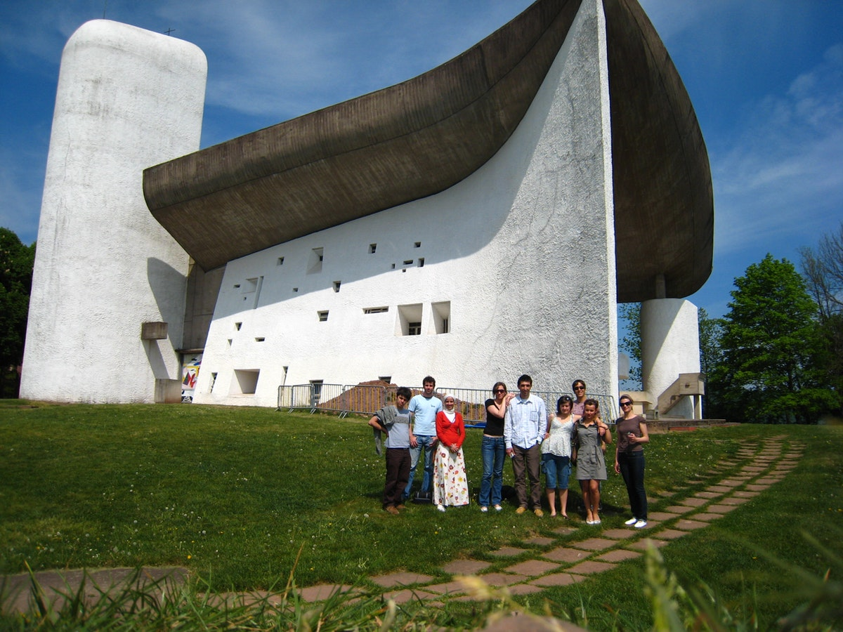 Our studio group on a visit to Le Corbu's Ronchamp