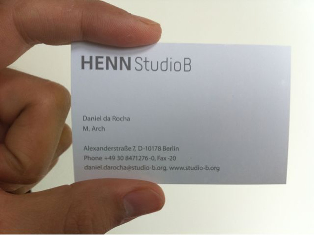 My first business card.