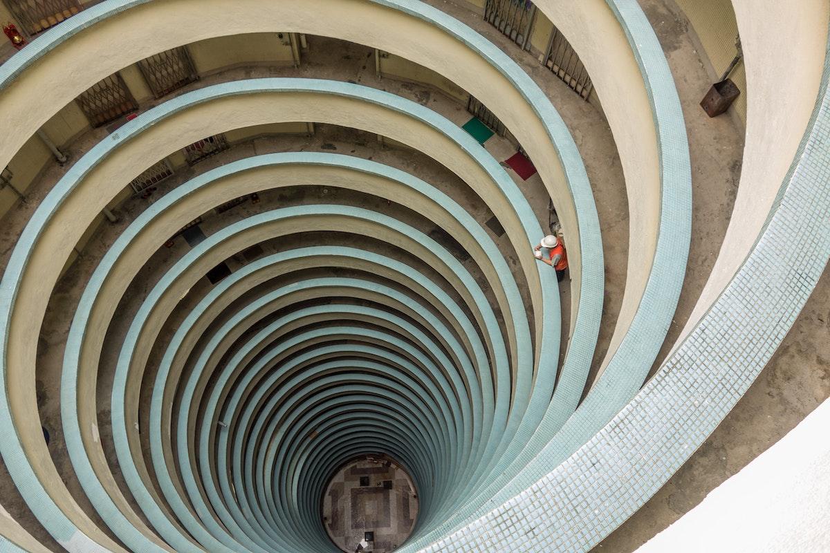 The atrium of Lai Tak Tsuen