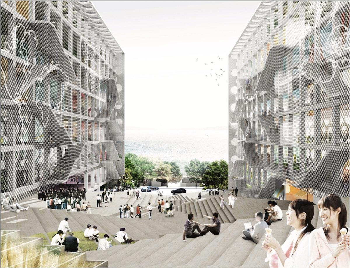 Chu Hai College Campus proposal by OMA