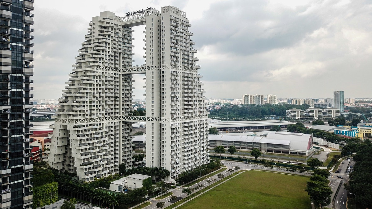 The Sky Habitat residential building in Singapore