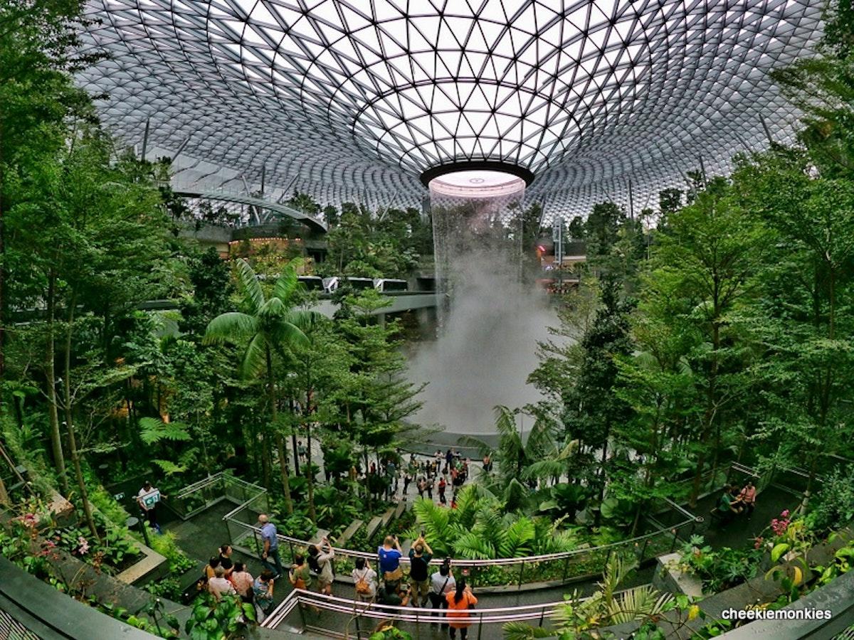 Waterfall inside Singapore's Jewel Changi Airport